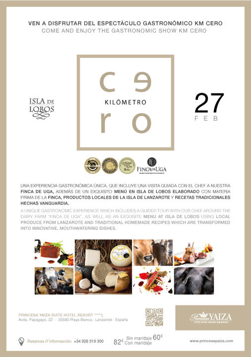 The Hotel Princesa Yaiza encourages gastronomy KM.0