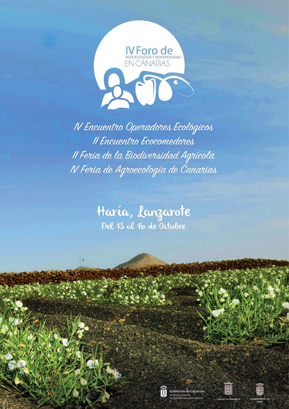 Lanzarote will host in October the IV Forum of Agroecology and Biodiversity of Canary Islands