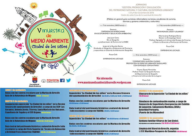 """V Environmental Sample of Arrecife 2016 """"Ciudad de los Niños"""""""
